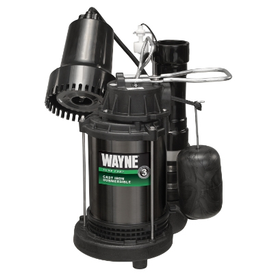 Wayne Pumps Sump Pump & Back up System, 1/3hp