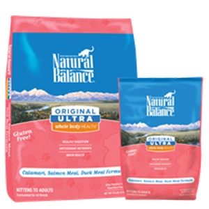Natural Balance Original Ultra Whole Body Health Calamari, Salmon Meal, Duck Meal Dry Cat Formula