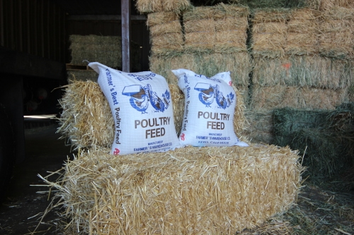 Feed Sacks and Straw Bales