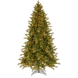 National Tree Co - Import, PEAV7-309-75 7.5' Green Feel Real PE Avalon Spruce Hinged Artificial Tree