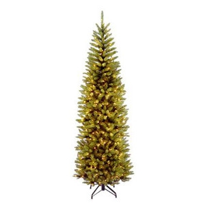 National Tree Co - Import, KW7-300-75 7 1/2' Kingswood Fir Hinged Pencil Artificial Tree