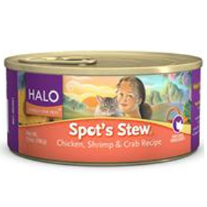 Halo Spot's Stew Chicken, Shrimp & Crab 5.5 oz Cat Food