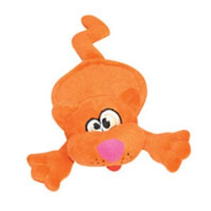 Quaker Pet Group LLC Hear Doggy Plush Toy Flattie Orange Cat