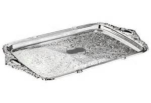 Oblong Silver Tray