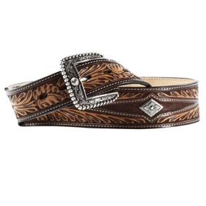 Ariat® Women's Western Turquoise Inlay Tooled Leather Belt