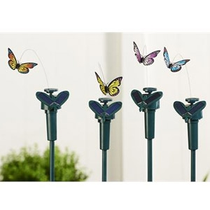 Solar Powered Butterfly Stake Set