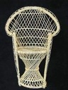 White Wicker Bridal Chair