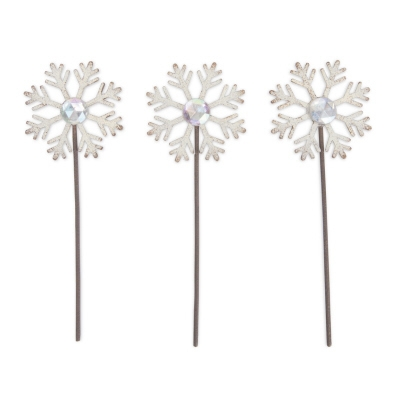 Magnet Works, Gypsy Garden Snowflake Picks, Set of 3