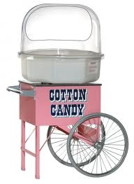Cotton Candy Machine with rolling Cart