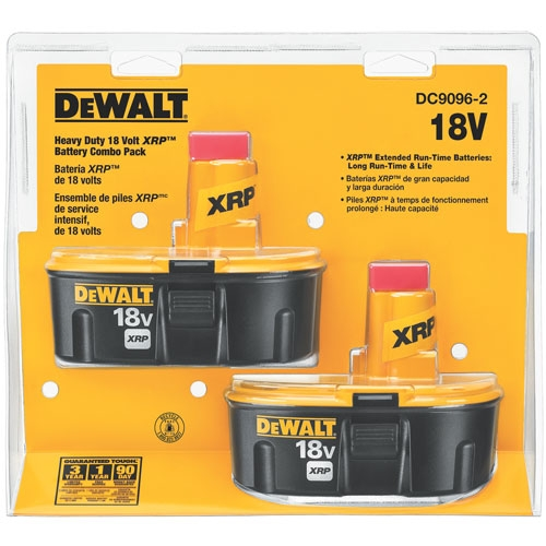 DeWalt 2pk. 18 Volt XRP Battery now $99.99
