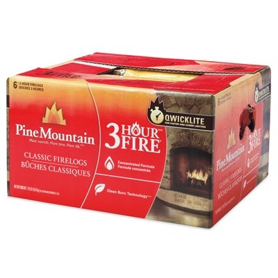 Pine Mountain 3-Hour Traditional Fire Logs, 6-Pk.