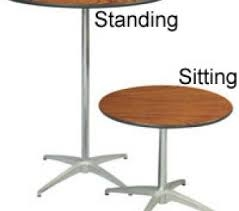 30 inch Round Table SEATED HEIGHT