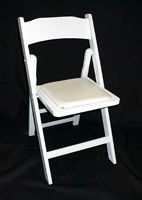 White Padded Chairs (wedding chairs)