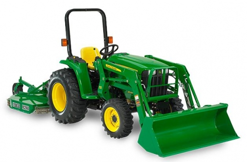 Tractor, 4-Wheel Drive, with Loader Bucket