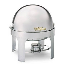 6-Quart Round Roll-Top Chafer