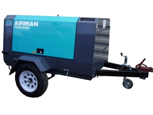 Air Compressor, 185CFM Towable
