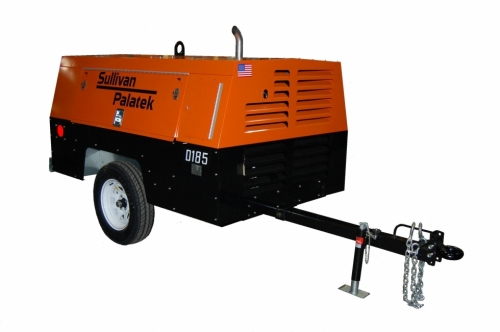 Air Compressor, 185 CFM with Jackhammer