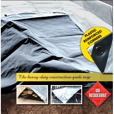 Heavy Duty Silver/black Tarp 12ft X 20ft