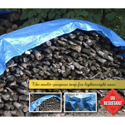 Blue Poly Tarp 20ft X 40ft