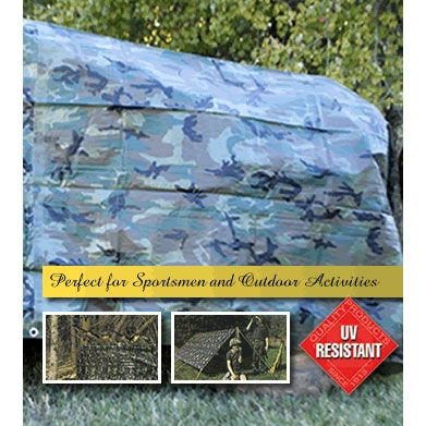 Camouflage Poly Tarp 10ft X 12ft