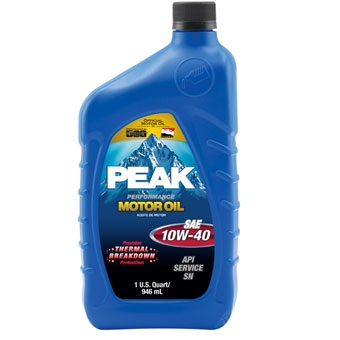 Peak Sae 10w-40 Multigrade Motor Oil Qt