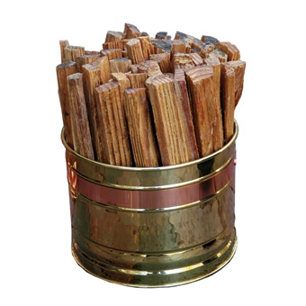 Fatwood Firestarter Brass Bucket 4.5lb