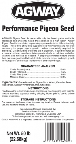 Agway Performance Pigeon Seed 50lb