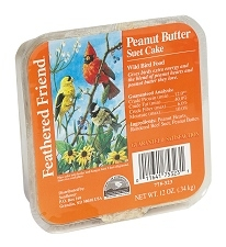 Feathered Friend Peanut Butter Suet Cake 12oz
