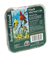 Feathered Friend Finch Mini Seed Cake 10oz