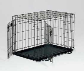 Wire Double Door Crate 36x24x27