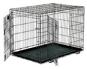Wire Double Door Crate 42 X 28 X 31