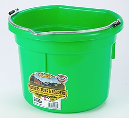 Flat Back Bucket Lime Green 8 Qt