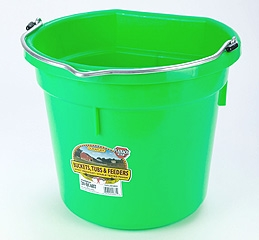 Flat Back Bucket Lime Green 20 Qt