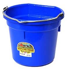 Flat Back Bucket Berry Blue 20 Qt