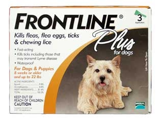 Frontline Plus For Dogs Up To 22 Lbs 3-dose
