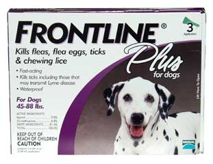 Frontline Plus For Dogs 45-88 Lbs 3-dose