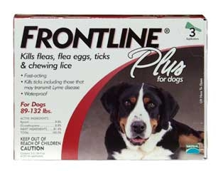 Frontline Plus For Dogs 89-132 Lbs 3-dose