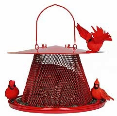 Red Cardinal No/no Bird Feeder