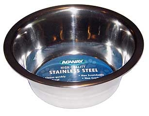 Agway Stainless Steel Standard Dog Feeding Dish 1/2pt