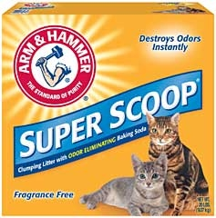 Arm & Hammer® Super Scoop Unscented Cat Litter (20#)