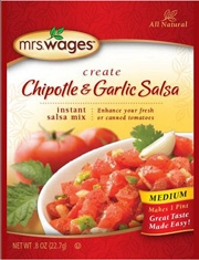 Mrs. Wages Chipotle & Garlic Salsa Mix .8oz