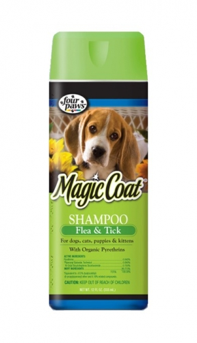 Magic Coat Flea & Tick Shampoo For Dogs, Cats, Puppies & Kittens 16oz