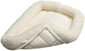 Quiet Time Bolster Pet Bed Sheepskin 18 X 12