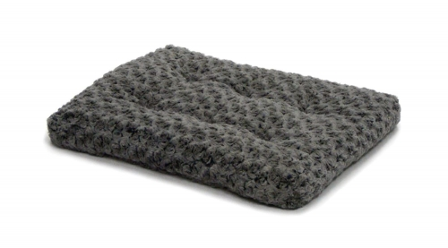 Quiet Time Deluxe Pet Bed Ombre Swirl Grey/charcoal 24in