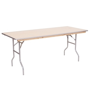 PRE 6' Metal Edge Wood Table