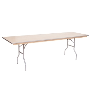 PRE 8' Metal Edge Wood Table