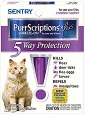 Sentry Purrscript Plus Flea & Tick Control For Cats And Kittens Over 5lbs