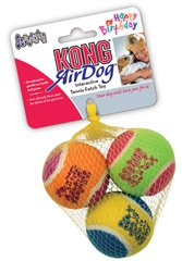 Kong Air Dog Happy Birthday Squeakair Balls Medium