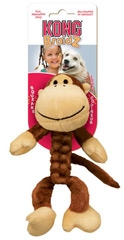 Kong Braidz Squeak Toy Monkey For Dogs Small