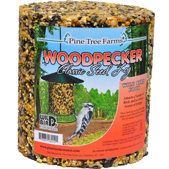 Pine Tree Farms Woodpecker Seed Log 40oz